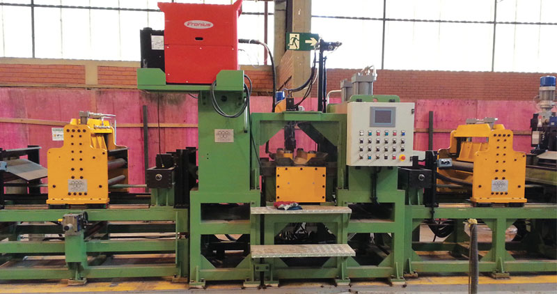 """Automatic strip end-welder with double shear, for an 8"""" tube mill, include the Automatic system for bead removing by rotating milling tool."""