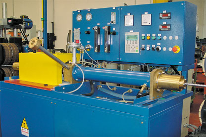 In-line annealing machine for corrugated tubes.