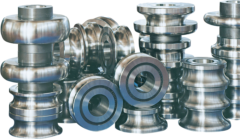 Rolls for production of round tubes made in K110 steel, with 62 HRc.