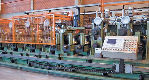 Complete tube mill for production of carbon steel tubes from 60 mm up to 220 mm O.D.