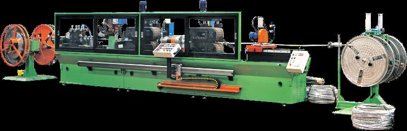 Linea di produzione mod. 30/35 per tubi flessibili saldati da 10 mm a 35 mm di diametro.